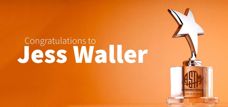 Congratulations to Jess Waller