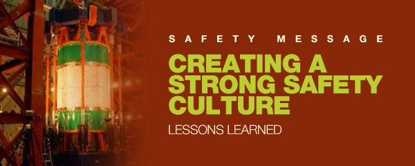 Safety Message Creating A Strong Safety Culture