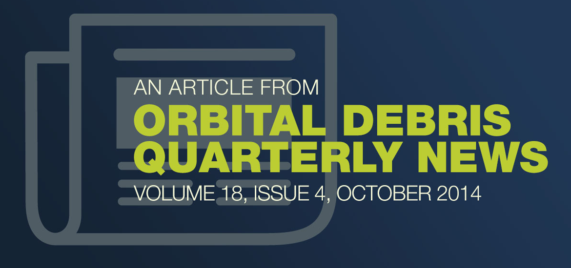 Orbital Debris Quarterly News October 2014