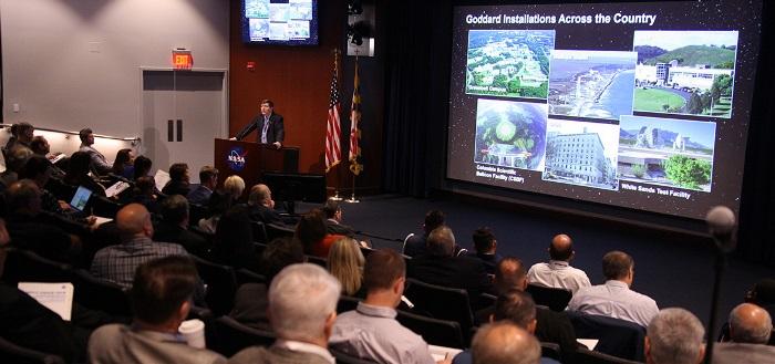 Goddard Center Director Chris Scolese addresses conference attendees